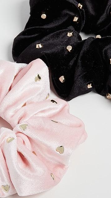 Lele Sadoughi 2 件装装饰宽大发带