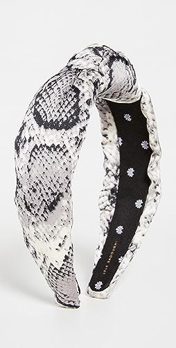 Lele Sadoughi - Python Silk Knotted Headband