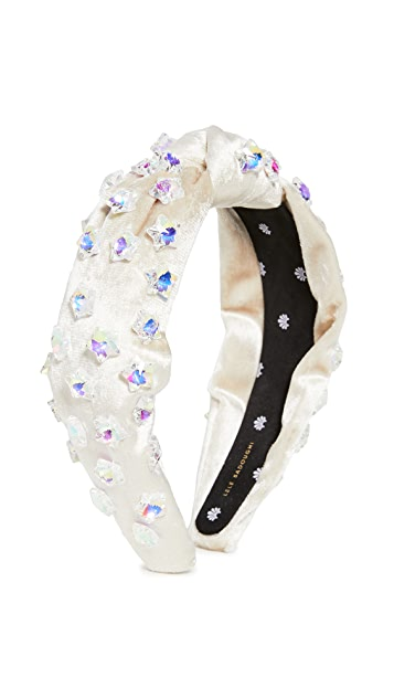 Lele Sadoughi Crystal Star Knotted Headband