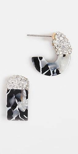 Lele Sadoughi - Crystal Colorblock Huggie Hoops