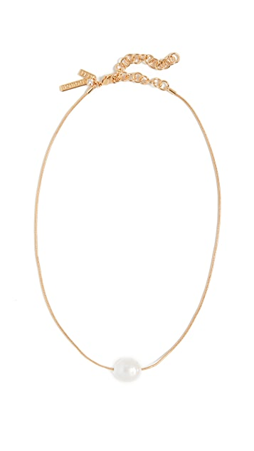 Lele Sadoughi Baroque Pearl Chain Necklace