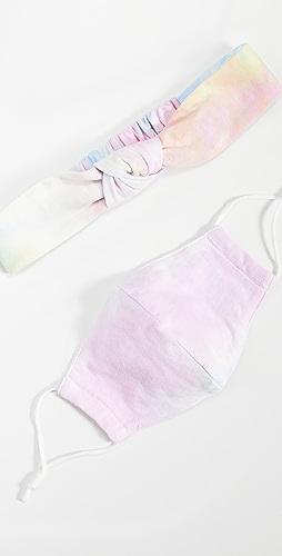 Lele Sadoughi - Face Covering and Headband Set