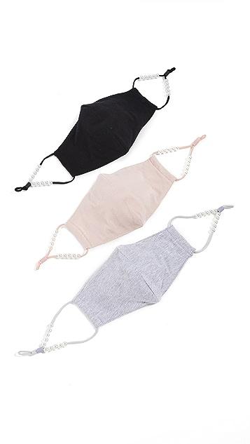 Lele Sadoughi 3 件装口罩
