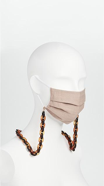 Lele Sadoughi Face Mask Chain
