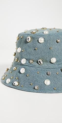 Lele Sadoughi - Jeweled Bucket Hat