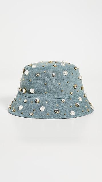 Lele Sadoughi Jeweled Bucket Hat