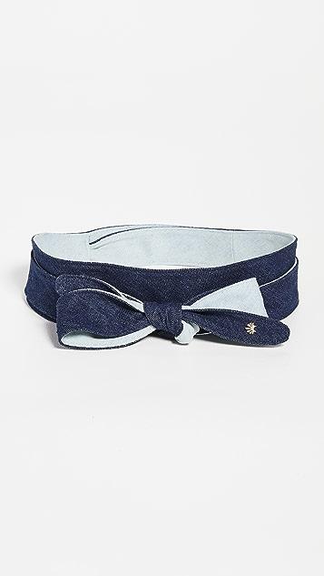 Lele Sadoughi Bow Tie Wrap Belt