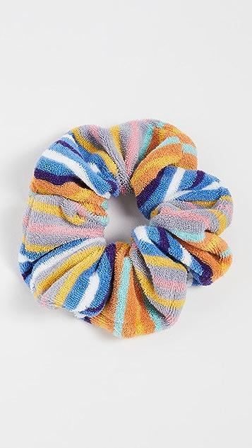Lele Sadoughi Striped Terry Cloth Oversized Scrunchie