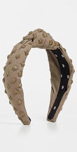 Lele Sadoughi - 梭织铆钉结饰发带