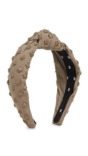 Lele Sadoughi 梭织铆钉结饰发带