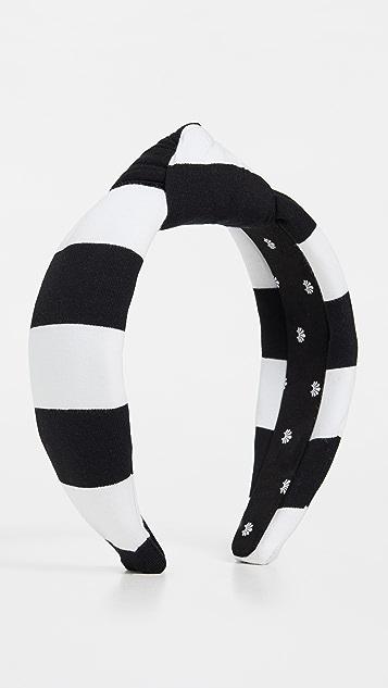 Lele Sadoughi 条纹结饰发带