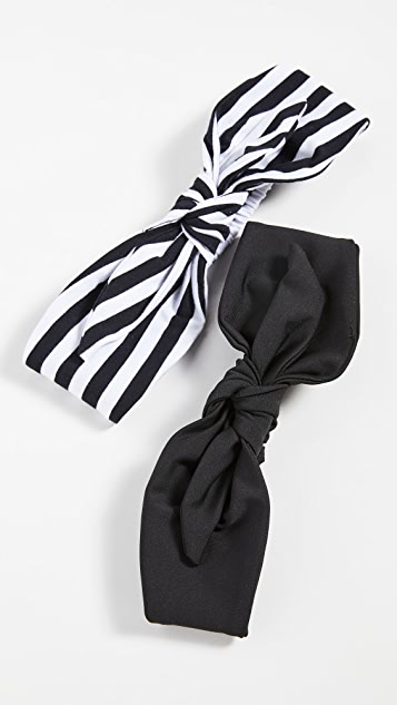 Lele Sadoughi Set of 2 Betty Headbands