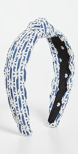 Lele Sadoughi - 条纹雏菊结饰细发带