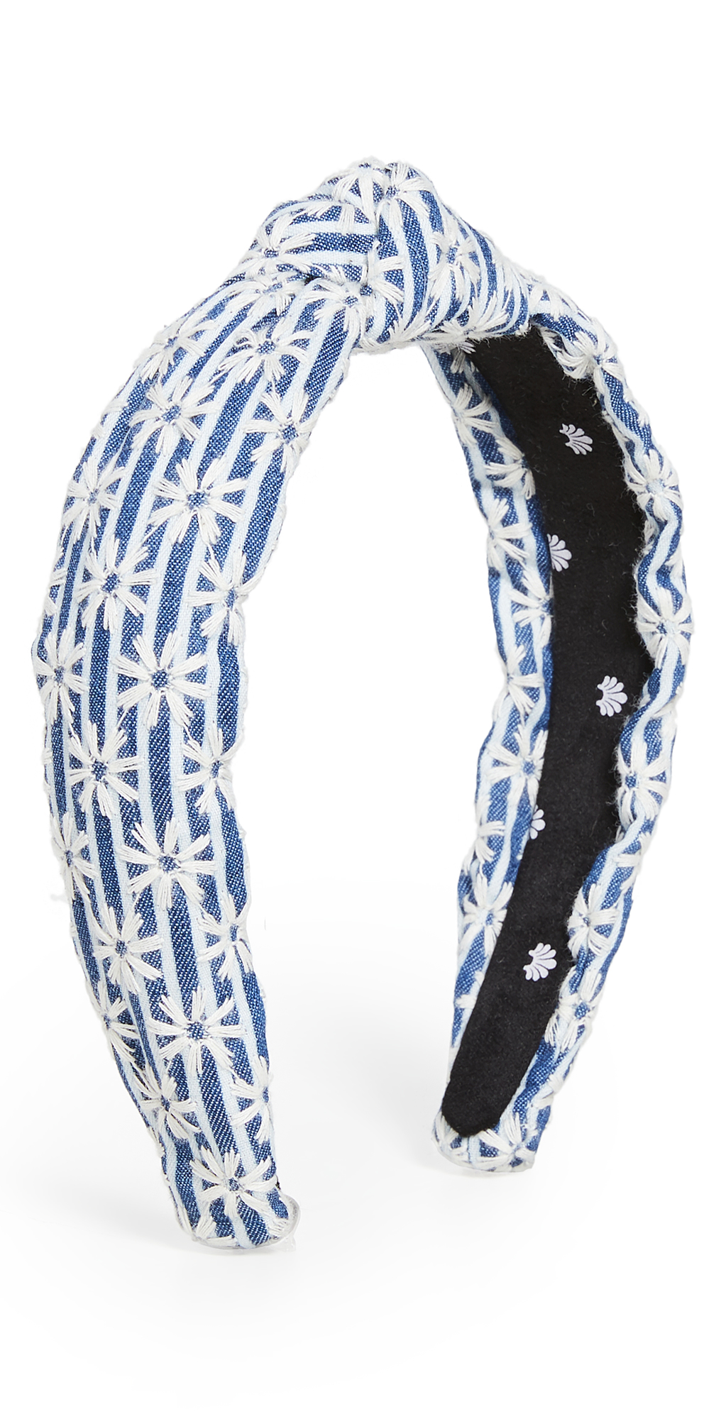 Lele Sadoughi Headbands STRIPED DAISY SLIM KNOTTED HEADBAND