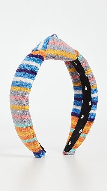 Lele Sadoughi Terry Cloth Knotted Headband