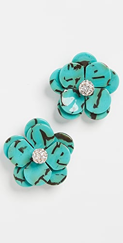 Lele Sadoughi - Poppy Button Earrings