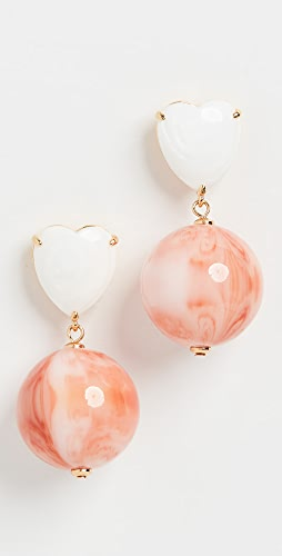 Lele Sadoughi - Halfcourt Heart Earrings