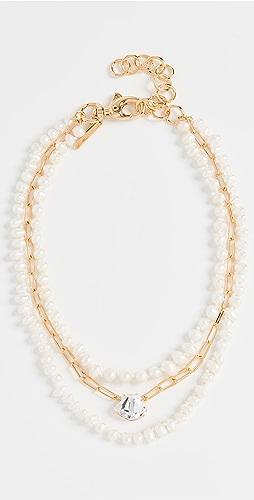 Lele Sadoughi - Swarovski Crystal Shell Necklace