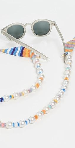 Lele Sadoughi - Skinny Scarf Necklace & Glasses Chain