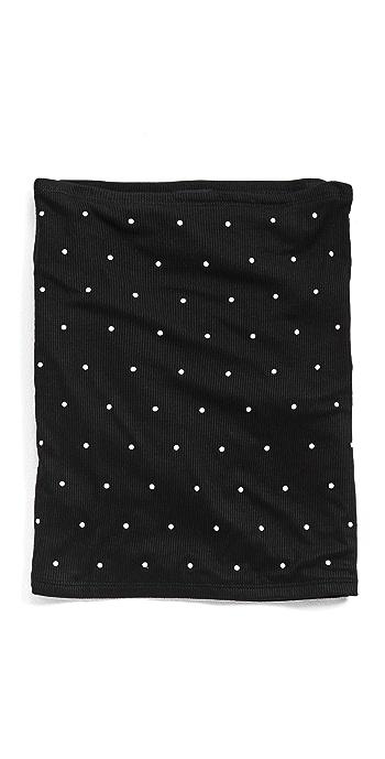 Lele Sadoughi Embellished Gaiter Face Covering - Jet Pearl