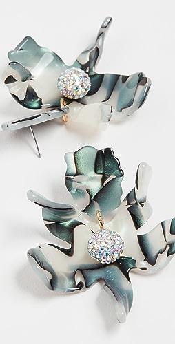 Lele Sadoughi - Small Crystal Lily Earrings
