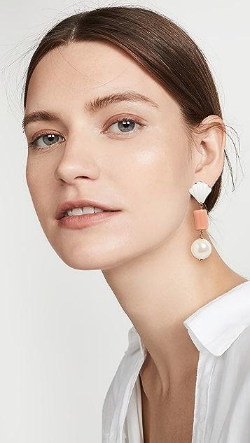 Lele Sadoughi Mediterranean Coral Earrings