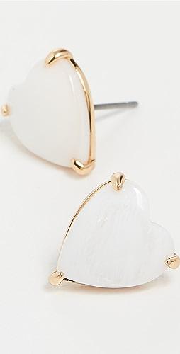 Lele Sadoughi - Ashford Heart Stud Earrings