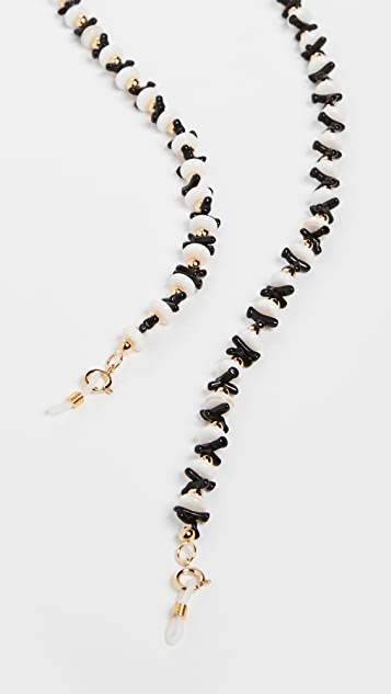 Lele Sadoughi Riviera Necklace and Sunglasses Chain
