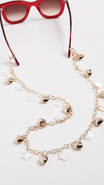 Lele Sadoughi Mixed Charm Sunglass Chain