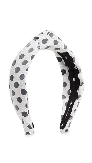 Lele Sadoughi Polka Dot Knotted Headband