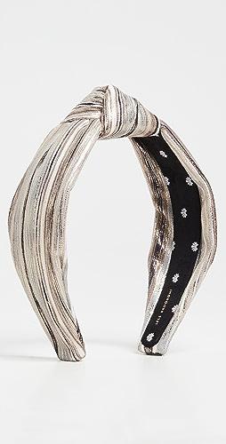 Lele Sadoughi - Mixed Metallic Knotted Headband
