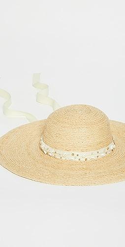 Lele Sadoughi - 珠宝镶嵌太阳帽