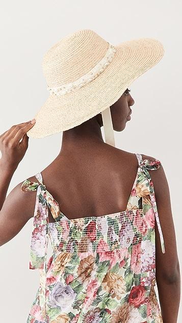 Lele Sadoughi Jeweled Sun Hat