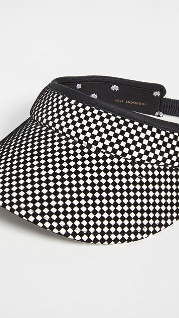 Lele Sadoughi Checkered Visor