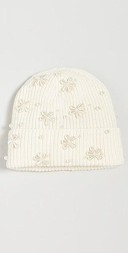 Lele Sadoughi - 人造珍珠雪片毛线帽