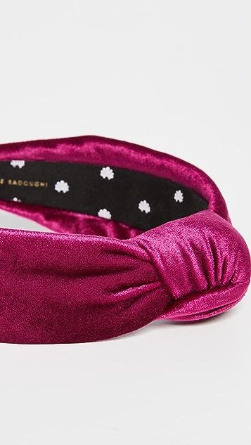 Lele Sadoughi Velvet Knotted Headband