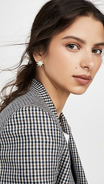 Lele Sadoughi Spur Stud Earrings