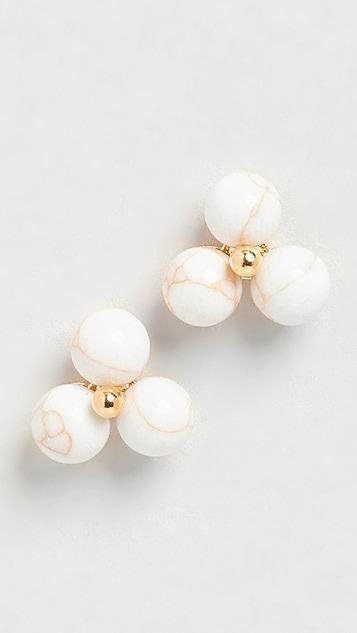 Lele Sadoughi Cactus Flower Stud Earrings