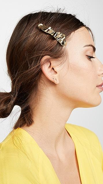 LELET NY Металлизированная оборчатая заколка для волос