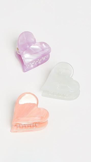 LELET NY Set Of 3 Heart Claws