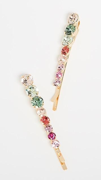 LELET NY Набор значков Convex с разноцветными кристаллами