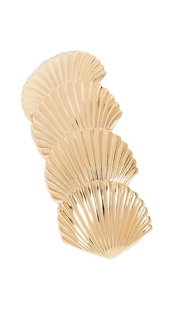 LELET NY Заколка для волос с ракушками