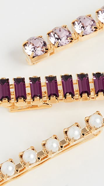 LELET NY Purple Blush Crystal Bobbi Set