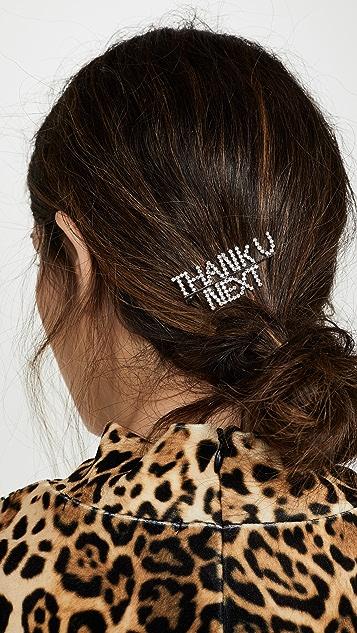 LELET NY Заколка для волос с кристаллами Thank U Next