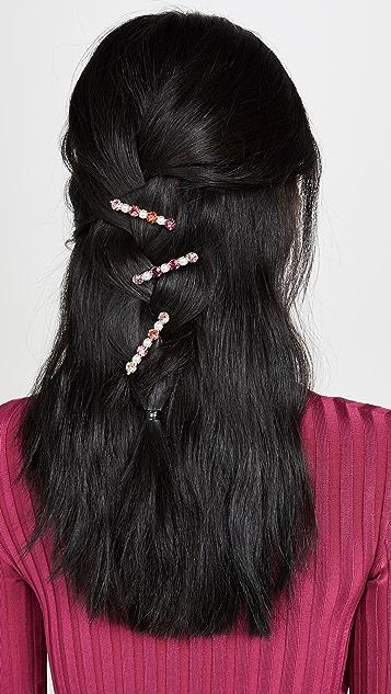 LELET NY 水晶珍珠发夹 3 件装
