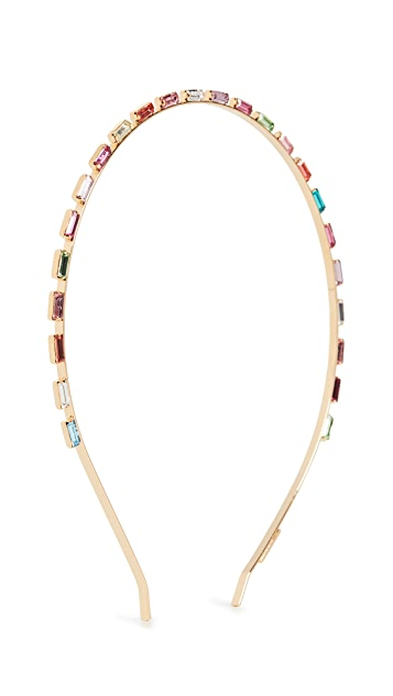 LELET NY Multi Crystal Baguette Headband