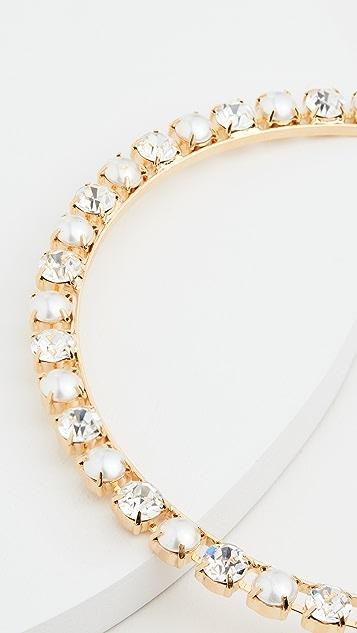 LELET NY 玻璃珍珠和水晶发带