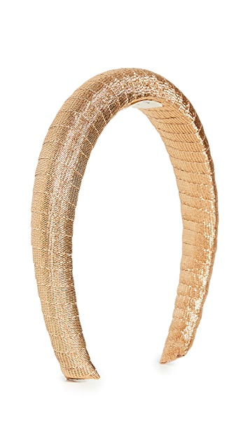 LELET NY Gold Soft Crown Headband