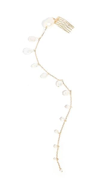 LELET NY 淡水养殖珍珠发梳