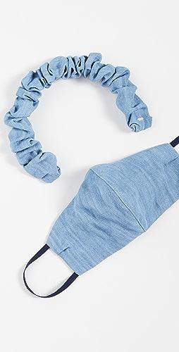 LELET NY - 牛仔布发带和口罩套装